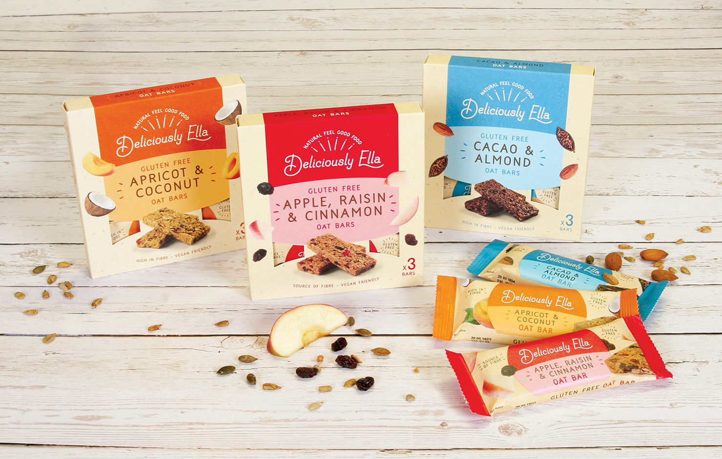 Deliciously Ella launches new range of Oat Bars with packaging ...